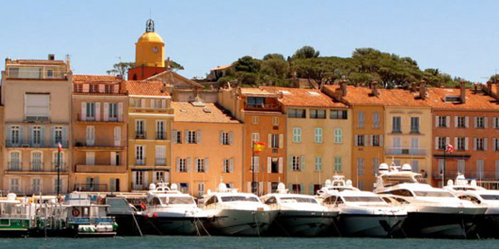 Saint-Tropez Port - in the Var department of the Provence-Alpes-Côte d'Azur region of southeastern France.