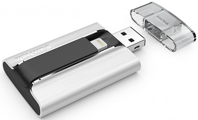 SanDisk iXpand Flash Drive for iPhone & iPad.