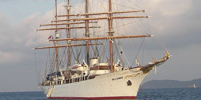 Sea Cloud - the world's 25th largest yacht: 359 ft / 110 m.