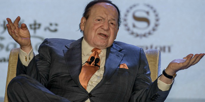 Sheldon Adelson - world's 11th richest person: US$37.1 billion (as of December 31, 2013. Bloomberg Billionaires).