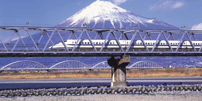 The Shinkansen, also known as the 'Bullet Train', is a network of high-speed railway lines in Japan operated by four Japan Railways Group companies.