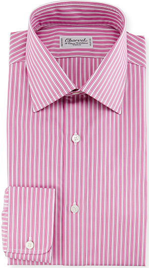 Charvet Ribbon-Striped Dress Shirt, Pink: US$575.