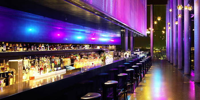 Skybar '20up' located on the 20th floor of Empire Riverside Hotel, Bernhard-Nocht-Straße 97, 20359 Hamburg, Germany.