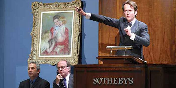 Art auction at Sotheby's, 34-35 New Bond Street, London W1A 2AA, England, U.K.