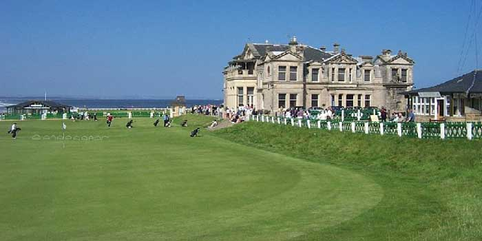 Old Course at St Andrews, Fife, Scotland.