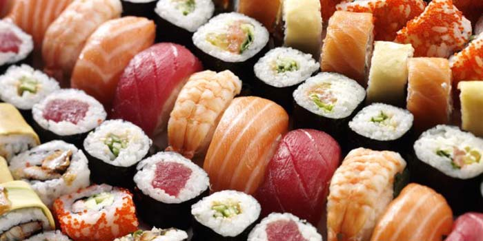 Various types of sushi.
