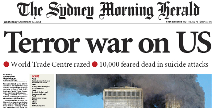 The Sydney Morning Herald - the oldest continuously published newspaper in the southern hemisphere founded in 1831.