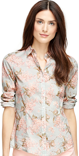 Brooks Brothers Tailored Fit Floral Women's Shirt: US$148.