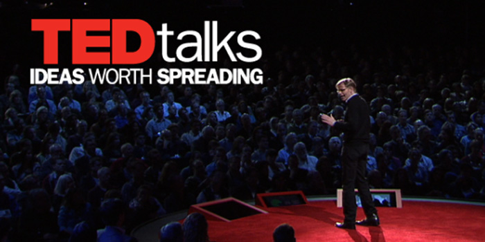 TED - 'Ideas worth spreading. Riveting talks by remarkable people, free to the world'.