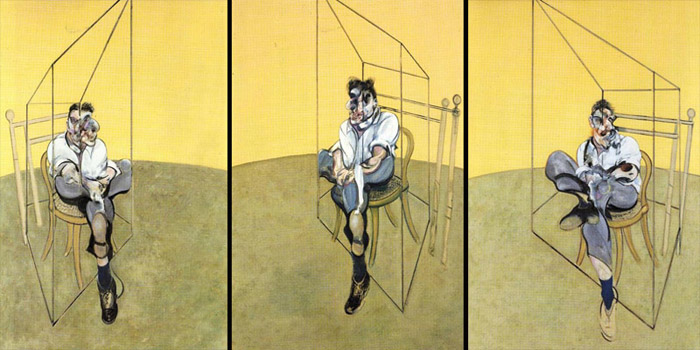 Three Studies of Lucian Freud (1969) by Francis Bacon - The most expensive work of art ever sold at auction for US$142.4 million at Christie's in New York on November 12, 2013.