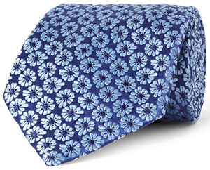 Charvet Floral-Embroidered Silk Tie: US$235.