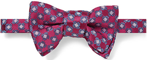 Charvet Patterned Silk-Satin Bow Tie: US$225.