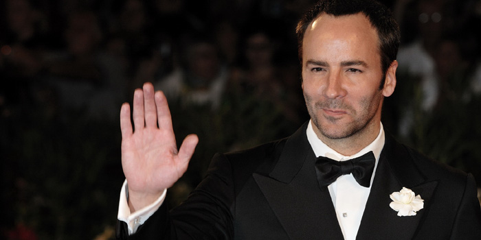 American fashion designer and film director Tom Ford.