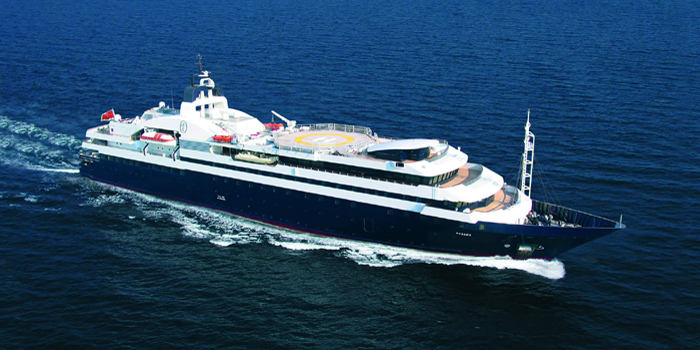 Turama - the world's 17th largest yacht: 380 ft / 116 m.