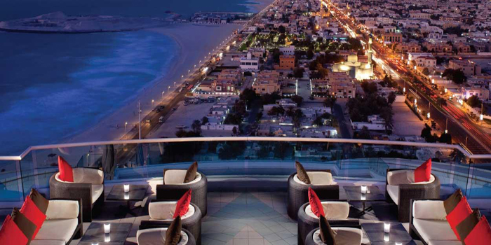 Located on the 24th floor of Jumeirah Beach Hotel, Dubai.
