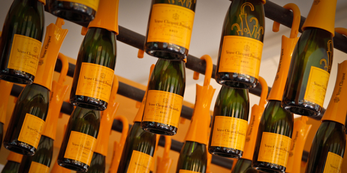 Veuve Clicquot Ponsardin champagne bottles.