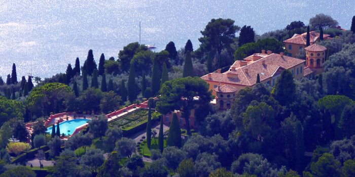 World's most expensive home (€500 million / US$736 million / £397 million): Villa Leopolda, Villefranche-sur-Mer, Côte d'Azur, France.
