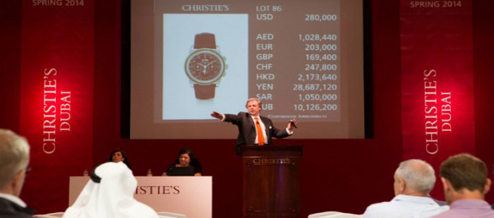 Christie's Watch Auction In Dubai (March, 2014).
