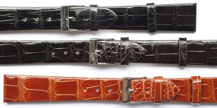 Watch crocodile straps: US$230.