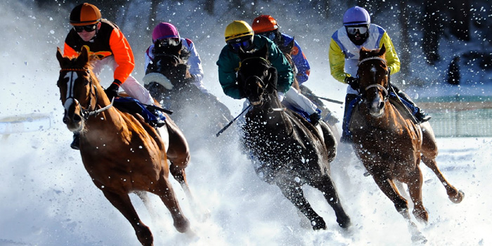 White Turf St. Moritz International Horse Race, Switzerland.