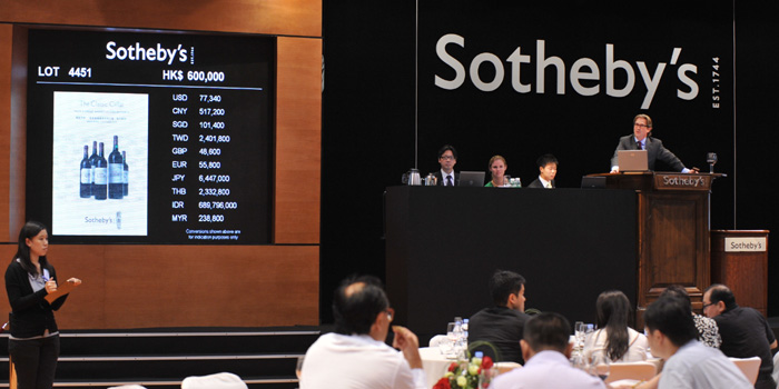Sotheby's wine auction.