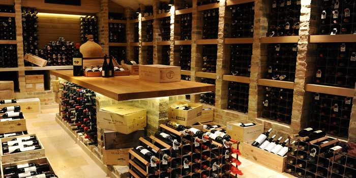 Traditional wine cellar.