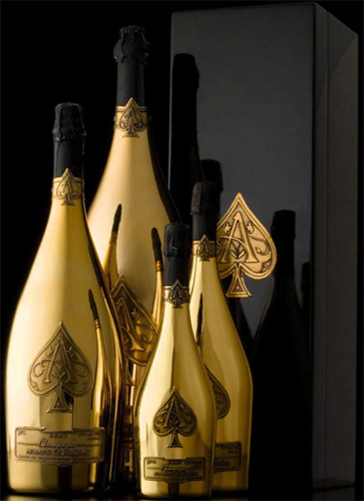 Ace of Spades campagnes by Armand de Brignac.