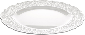 Alessi Dressed serving plate in white porcelain with relief decoration: US$168.