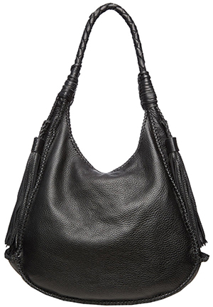 Alice and Olivia Andrew Pebbled Leather Hobo: US$595.