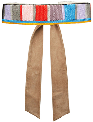 Alice and Olivia Beaded Multicolor Belt: US$275.