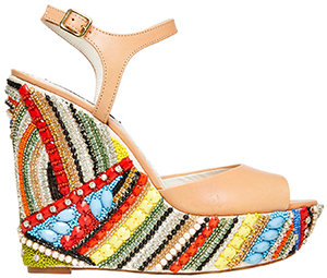 Alice and Olivia Laura Wedge: US$625.
