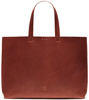 Anna Walker London Large Brunswick Tote - Rust: £330.