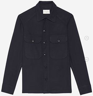 Sandro men's Army shirt: US$235.