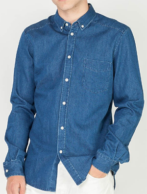 Assembly Label Endless Denim L/S Shirt Dark: US$89.95.