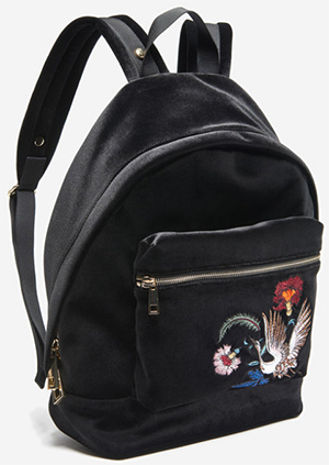 Sandro women's Avril Bird backpack: US$470.