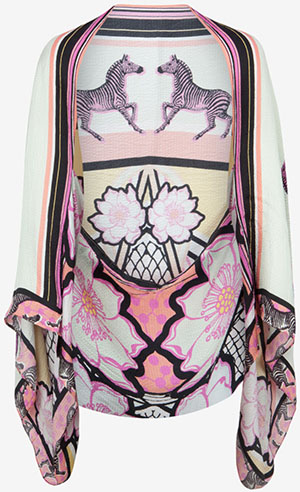 Ted Baker women's Wilda Tribal print silk cape scarf: £99.