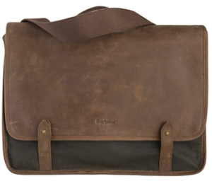 Barbour men's Wax Leather Messenger Bag.