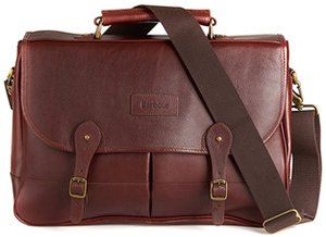 Barbour men's Leather Briefcase.