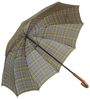 Barbour men's Tartan Golf Umbrella.