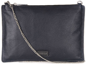 Barbour women's B.Intl Leather Clutch Bag.