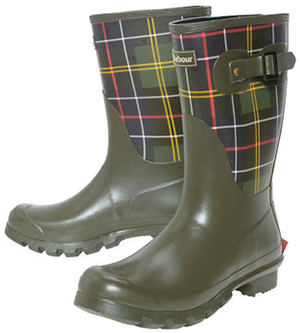Barbour women's Short Classic Tartan Wellingtons.