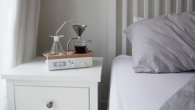Barisieur's coffee-brewing alarm clock.