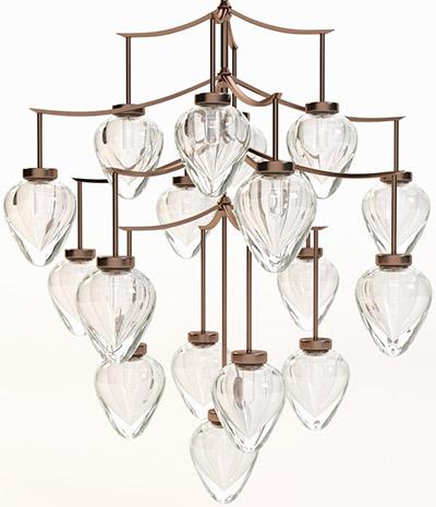 Top 40 best high end luxury chandeliers brands suppliers alison berger glassworks chamber chandelier aloadofball Images