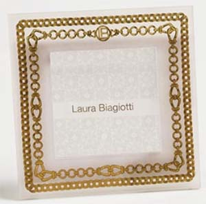 Laura Biagiotti wedding photo frame.
