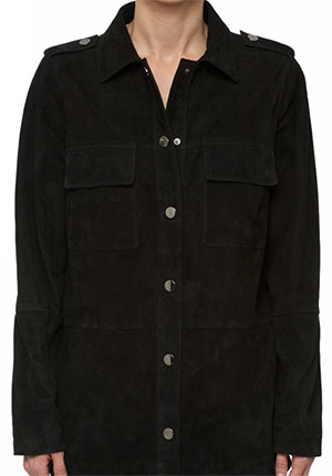 Anine Bing Sude shirt in black: US$499.