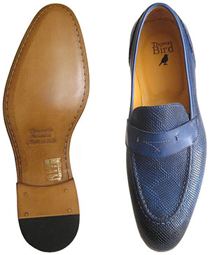 Thomas Bird Harrison Loafer in Blue Lizard: £165.