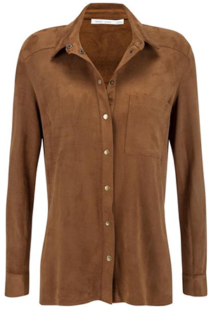 Bishop + Young Suede Button Up Shirt: US$95.