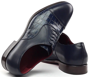 Gresham Blake Navy Croc Oxford Men's Shoes: £195.
