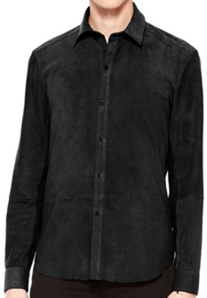 BLK DNM Women's Leather Shirt 15 Black: US$995.