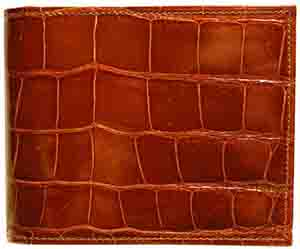 Boconi Alligator Billfold in Tan: US$698.